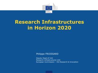 Research Infrastructures in Horizon 2020