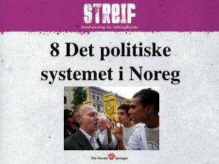 8 Det politiske systemet i Noreg