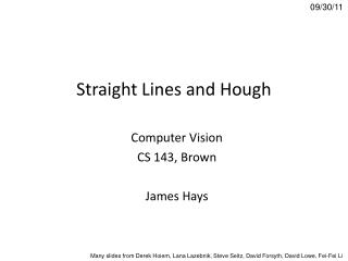 Straight Lines and Hough