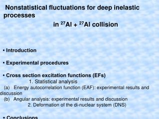 Nonstatistical fluctuations for deep inelastic processes