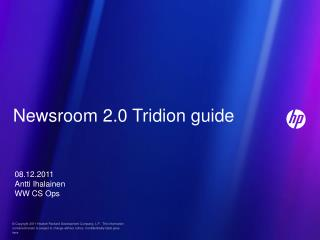 Newsroom 2.0 Tridion guide