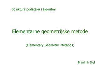 Elementarne geometrijske metode