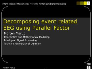 Decomposing event related EEG using Parallel Factor