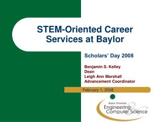 STEM-Oriented Career Services at Baylor