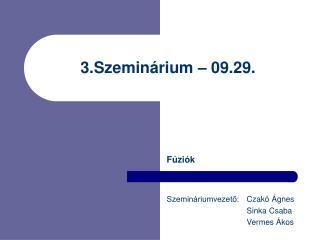 3 .Szeminárium – 09.29.
