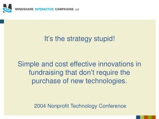 2004 Nonprofit Technology Conference
