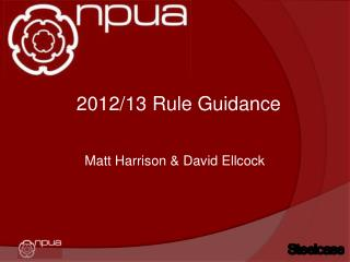 2012/13 Rule Guidance
