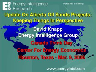 Update On Alberta Oil Sands Projects: Keeping Things In Perspective