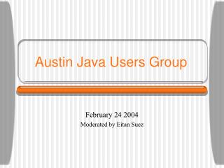 Austin Java Users Group