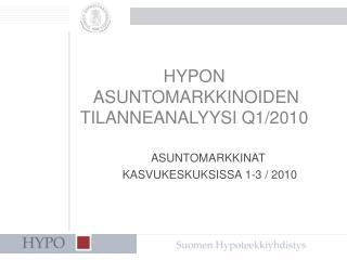 HYPON ASUNTOMARKKINOIDEN TILANNEANALYYSI Q1/2010