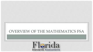 Overview of the Mathematics FSA