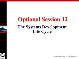 Optional Session 12
