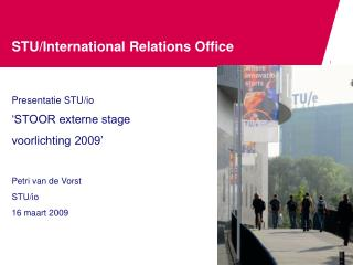 STU/International Relations Office