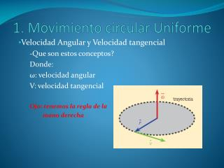 1. Movimiento circular Uniforme