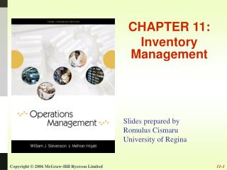 CHAPTER 11: Inventory Management