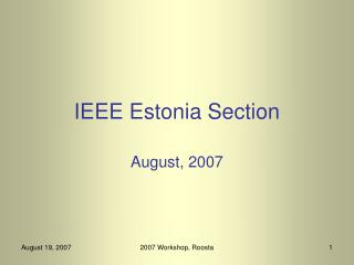 IEEE Estonia Section