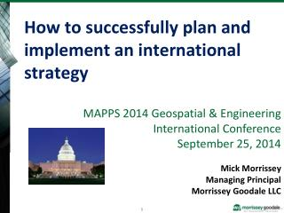 How to successfully plan and implement an international strategy