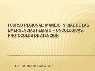 Lic. Enf. Mariela Castro Limo
