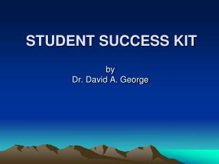 STUDENT SUCCESS KIT