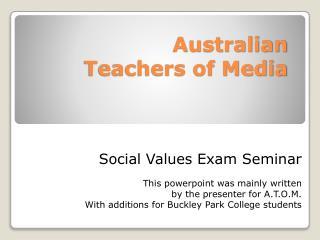 Australian  Teachers of Media