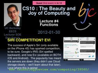 UC Berkeley EECS Lecturer SOE Dan Garcia