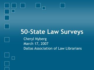 50-State Law Surveys