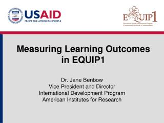 Measuring Learning Outcomes in EQUIP1