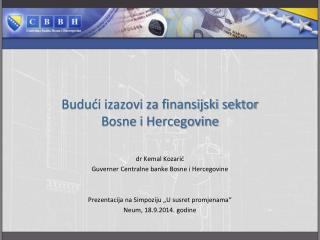 Budući izazovi za finansijski sektor Bosne i Hercegovine