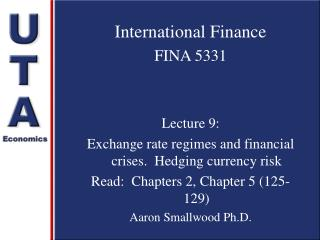 International Finance FINA 5331 Lecture 9: