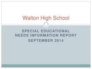 Walton High School
