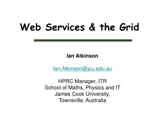 Web Services & the Grid
