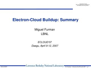 Electron-Cloud Buildup: Summary