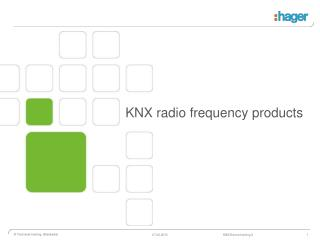KNX radio frequency products