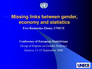 Missing links between gender, economy and statistics