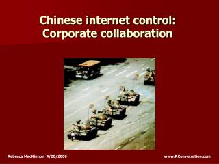 Chinese internet control: Corporate collaboration