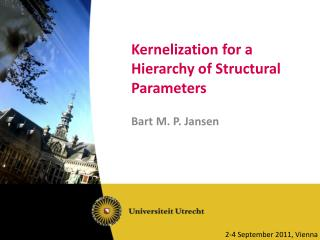 Kernelization  for a Hierarchy of Structural Parameters