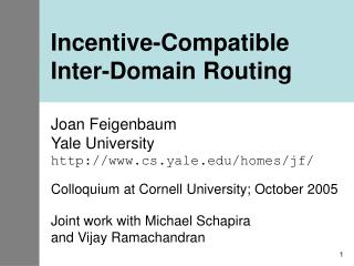 Incentive-Compatible Inter-Domain Routing