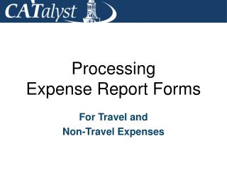 Processing Expense Report Forms
