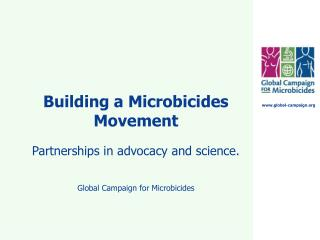 Building a Microbicides Movement