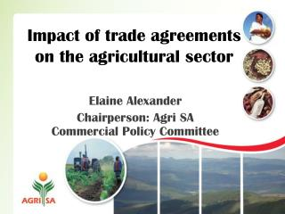Impact of trade agreements on the agricultural sector