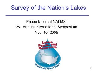 Survey of the Nation's Lakes