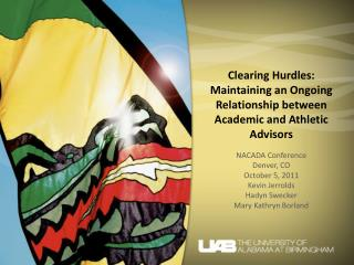 Clearing Hurdles: Maintaining an Ongoing Relationship between Academic and Athletic Advisors