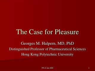The Case for Pleasure
