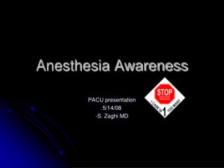 Anesthesia Awareness