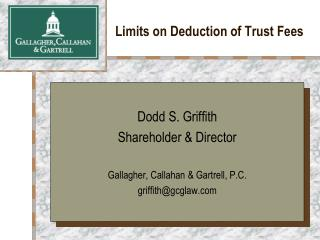 Limits on Deduction of Trust Fees