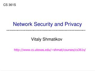 Network Security and Privacy
