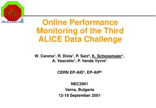 Online Performance Monitoring of the Third ALICE Data Challenge