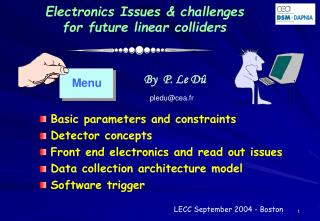 Electronics Issues & challenges  for future linear colliders