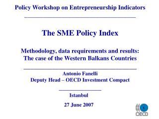 Policy Workshop on Entrepreneurship Indicators ____________________________________