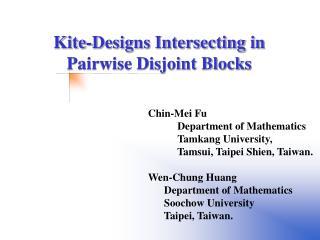 Chin-Mei Fu Department of Mathematics Tamkang University, Tamsui, Taipei Shien, Taiwan.